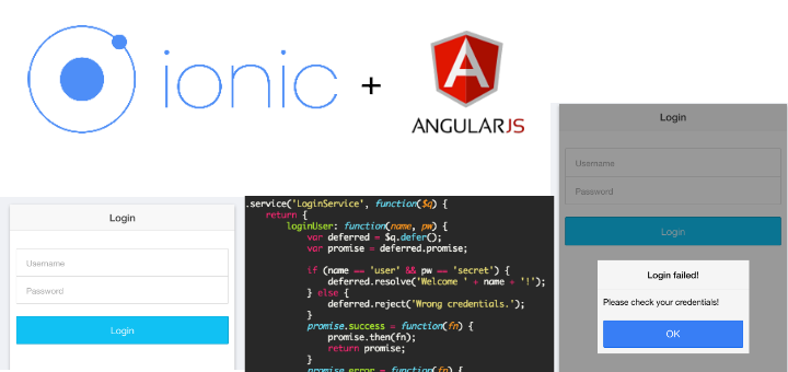 login example with ionic and angularjs