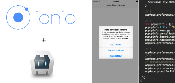 Add 'Rate my App' in your ionic app to increase the number of ratings in the app store