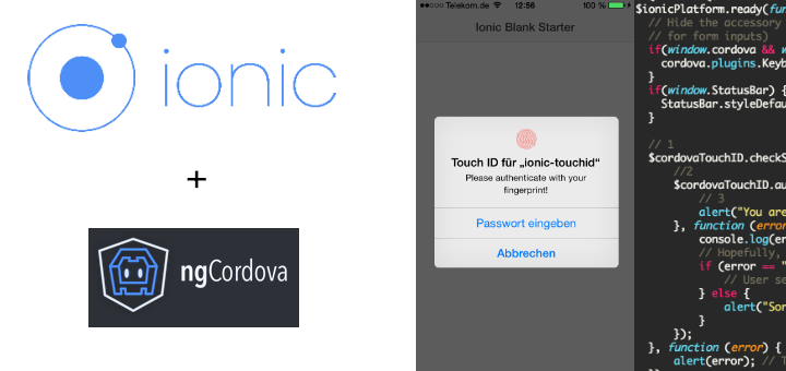 Support TouchId with Ionic and AngularJS