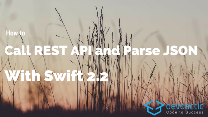 how to call rest api and parse json with swift 2 2 devdactic
