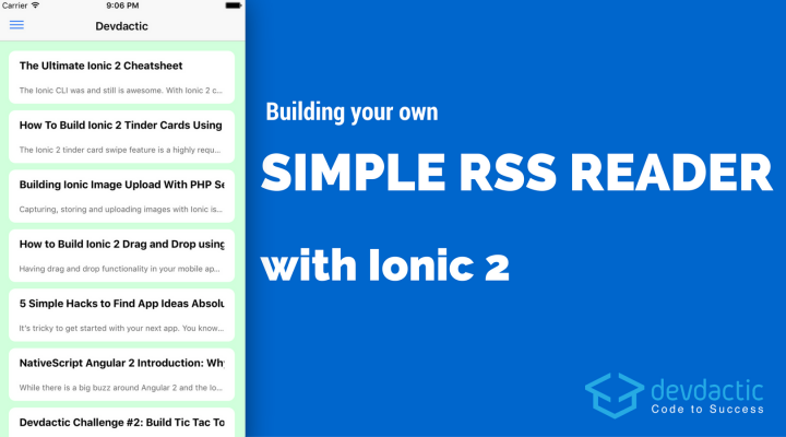 Building Your Own Simple RSS Reader with Ionic