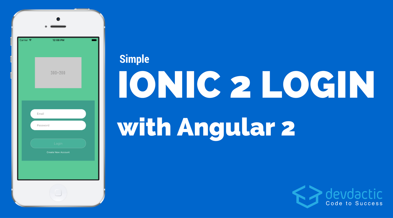 simple ionic login with angular 2 devdactic