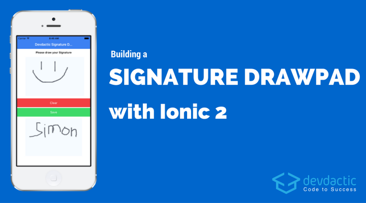 Building a Signature Drawpad using Ionic 2