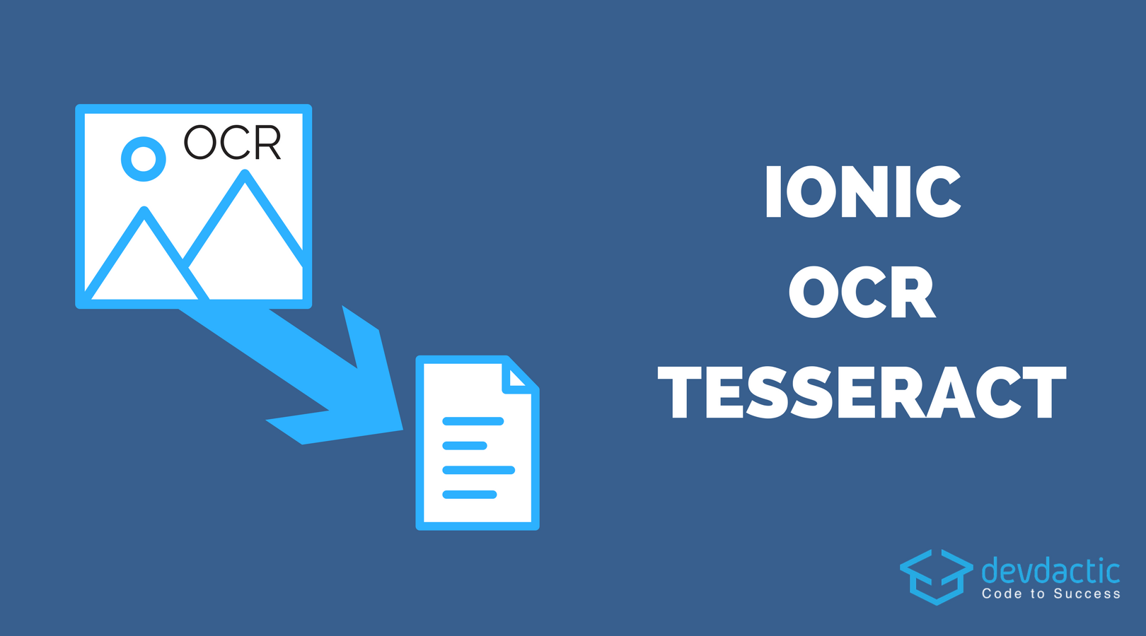 Building an Ionic OCR App with Tesseract - Devdactic